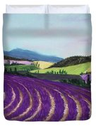 On Lavender Trail Duvet Cover