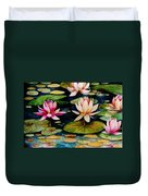 On Lily Pond Duvet Cover