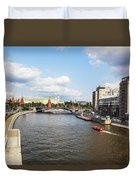 On Moscow River - Russia Duvet Cover