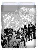 On Mount Blanc Duvet Cover