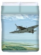 Spitfire On Patrol Duvet Cover