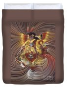 On Sacred Ground Series 4 Duvet Cover by Ricardo Chavez-Mendez