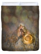 On Stage The Trumpeter Duvet Cover