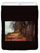 On The Bank Of River Volga Duvet Cover by Jenny Rainbow