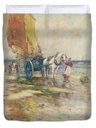 On The Beach  Duvet Cover by Oswald Garside