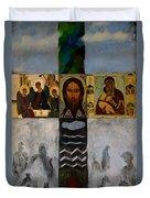 On The Cross Duvet Cover