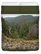 On The Edge Of The Cheakamus River Gorge Duvet Cover