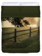 On The Fence Duvet Cover by Bill Wakeley