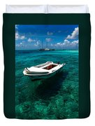 On The Peaceful Waters. Maldives Duvet Cover