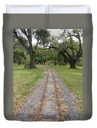 On The Right Track Duvet Cover