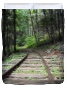 Victorian Locomotive Tracks Duvet Cover