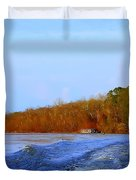 On The Rivers Bend Duvet Cover