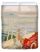 On The Road To Naples Duvet Cover