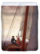 On The Sailing Boat Duvet Cover