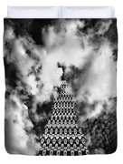 On The Riviera Stairway To Heaven Bw Palm Springs Duvet Cover