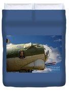 On The Tarmac B-17g Duvet Cover