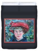 On The Terrace Renoir Rendition Duvet Cover
