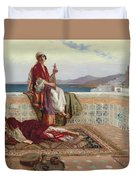 On The Terrace Tangiers Duvet Cover by Rudolphe Ernst