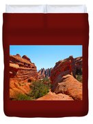 On The Trail At Arches Np Duvet Cover