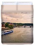 On The Vltava River - Prague Duvet Cover