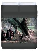 On The Way To Gethsemane Duvet Cover