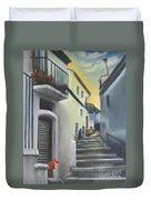 On The Way To Mamma's House In Castelluccio Italy Duvet Cover