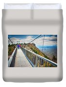 On Top Of Grandfather Mountain Mile High Bridge In Nc Duvet Cover