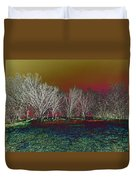 On Top Of The Hill Duvet Cover