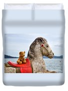 On White Horses Snow White Horses Let Me Ride Away Duvet Cover