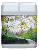 Once Around The Park Duvet Cover