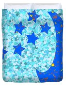 Once In A Blue Moon Also Got 5 Stars Signature Art  Navinjoshi Artist Created Images Textures Patter Duvet Cover