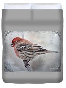 Once Upon A Winters Day Blank Greeting Card Duvet Cover