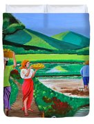 One Beautiful Morning In The Farm Duvet Cover