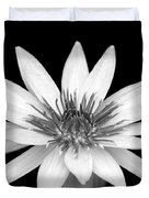 One Black And White Water Lily Duvet Cover