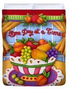 One Day At A Time Duvet Cover by Amy Vangsgard