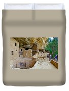One End Of Spruce Tree House On Chapin Mesa In Mesa Verde National Park-colorado Duvet Cover