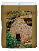 One Entry To Spruce Tree House On Chapin Mesa In Mesa Verde National Park-colorado  Duvet Cover