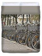 One Fine Morning In Paris Duvet Cover