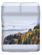 One Foggy Fall Day At Crown Point Duvet Cover