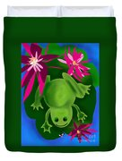 One Frogs Dinner Duvet Cover