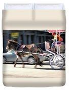 One Horse Power Duvet Cover