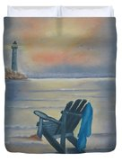 One Is A Lonely Number Duvet Cover by Kay Novy