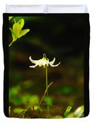 One Lily Almost Alone Duvet Cover