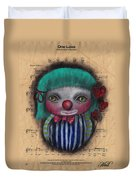 One Love Clown Duvet Cover