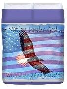 One Nation... Duvet Cover