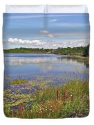 One Of Many Lakes In Newfoundland Duvet Cover