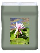 One Pink Water Lily Duvet Cover