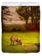 One Red Fox Duvet Cover