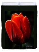 One Red Tulip Duvet Cover