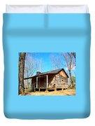 One Room Pioneer Log Cabin  Duvet Cover